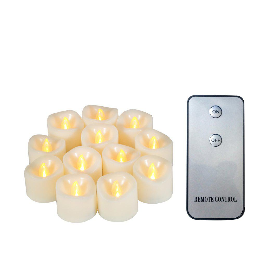 Online Set of 12pcs LED Votive Candle with Remote Top Melted Edge