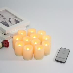 Set of 12pcs Flameless Votive candle with Remote -
