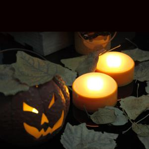 Set of 2 LED Pumpkin Lights with Remote and Timer Jack-O-Lantern Light Halloween Light -