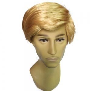 Men Golden Fashion Short Wig -