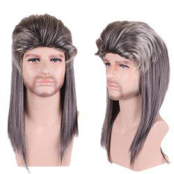 Men Long Cosplay Party Fluffy Wig -