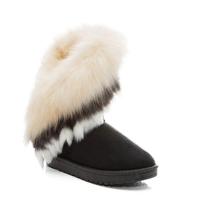 Discount Hairy Flat-bottomed Snow Boot