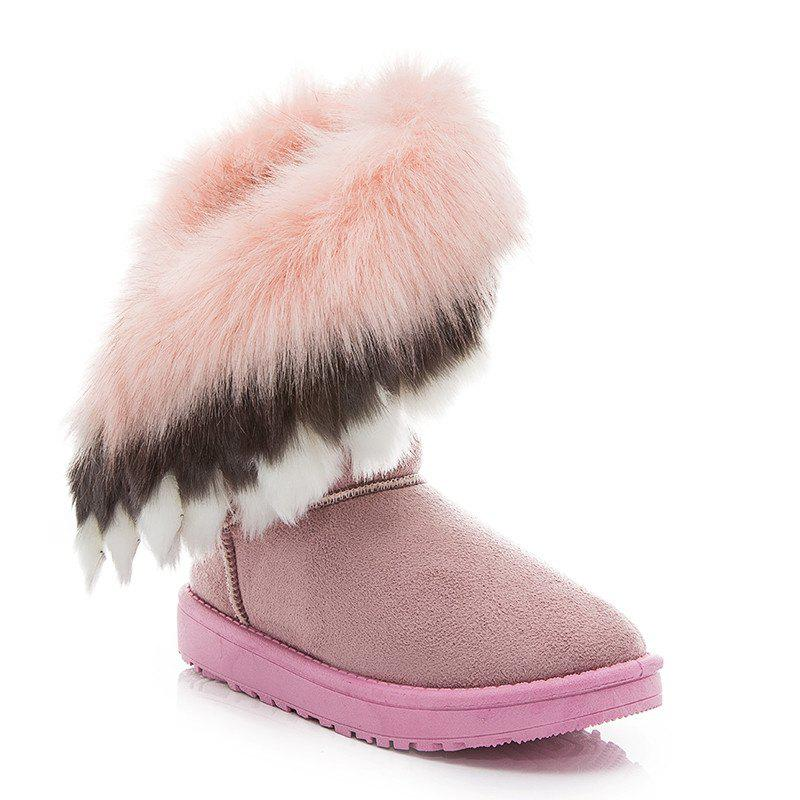 Store Hairy Flat-bottomed Snow Boot