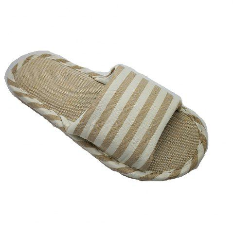 Fancy Women's and Men's  Linen Home Slippers for Spring Summer and  Autumn