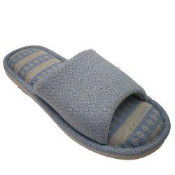 Men And Women Linen Home Slippers -