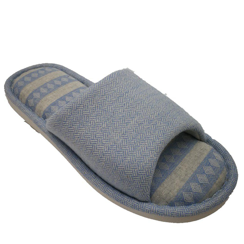 New Men And Women Linen Home Slippers
