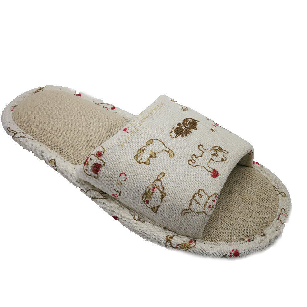 Best Women's Printing Linen House Slippers