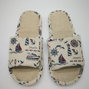 Men's Linen Prnting  House Slippers -