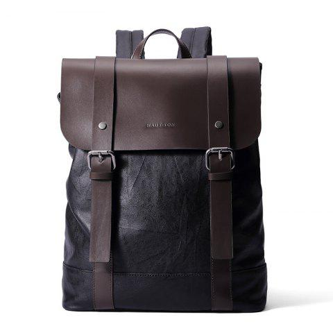 Brown Haut Ton Retro Leather School Travel Backpack 15 Inch Laptop ...