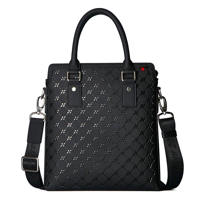 Shops HAUT TON Embossing Multifunctional Men's Briefcase Laptop Handbag
