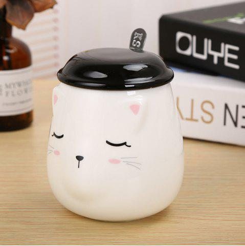 Outfits 400ML Cute Cat Creative Expression Ceramic Mug