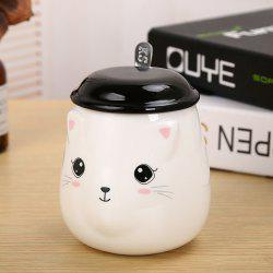 400ML Cute Cat Creative Expression Ceramic Mug -