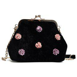 New Sweet Flowers Velvet Shell Bag Messenger Bag -