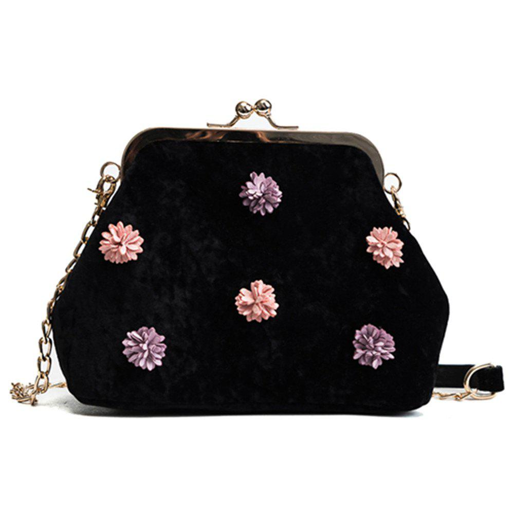 Hot New Sweet Flowers Velvet Shell Bag Messenger Bag