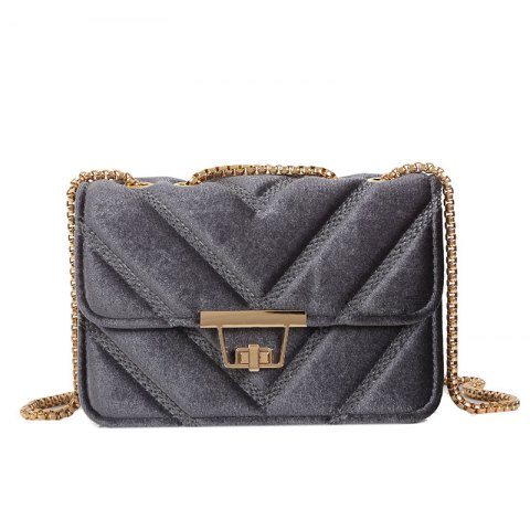 Shops Embroidered Line V Grain One-Shoulder Bag Velvet Small Square Bag of New Women Inclined To Cross Small Bags
