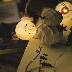 LED Christmas Doll Snowman Headlight String Decorative Lights -