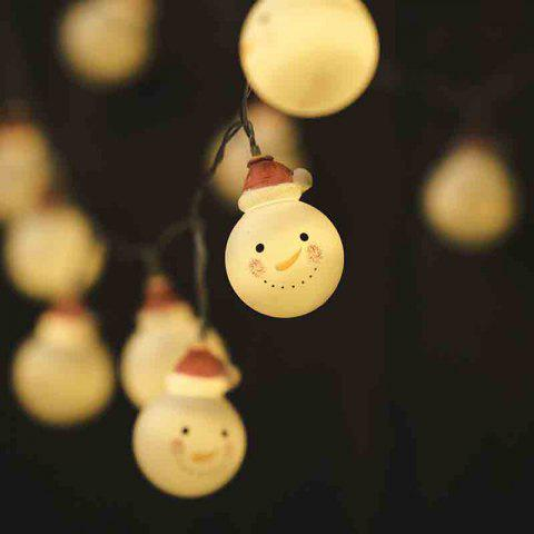 Shop LED Christmas Doll Snowman Headlight String Decorative Lights