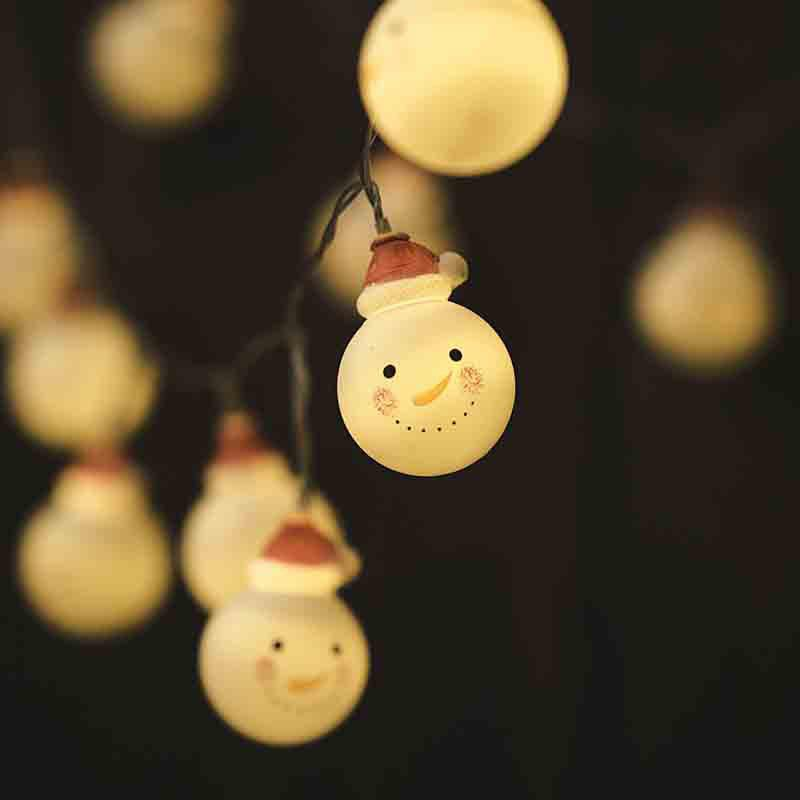 Online LED Christmas Doll Snowman Headlight String Decorative Lights
