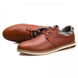 Autumn and Winter Leather Low To Help Sports and Leisure Men'S Shoes -