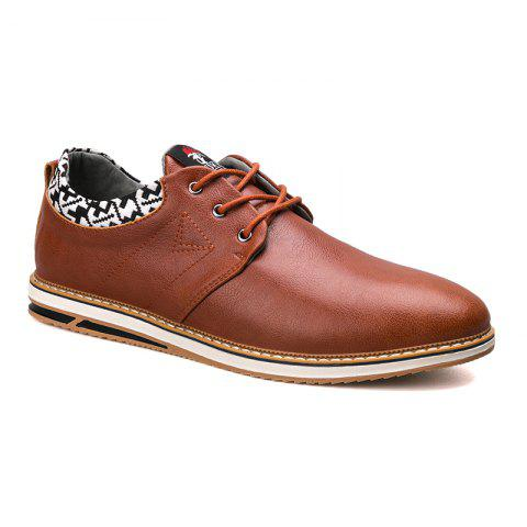 Chic Autumn and Winter Leather Low To Help Sports and Leisure Men'S Shoes