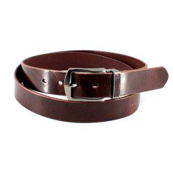 Men's Cowhide One Piece Leather Belt Snaps for Interchangeable Buckles antique buckle -