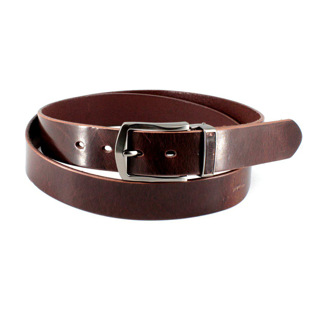 Shops Men's Cowhide One Piece Leather Belt Snaps for Interchangeable Buckles antique buckle