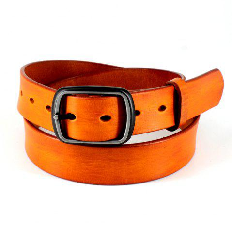 Fancy Men's Leather Belt Nickel Free Buckle