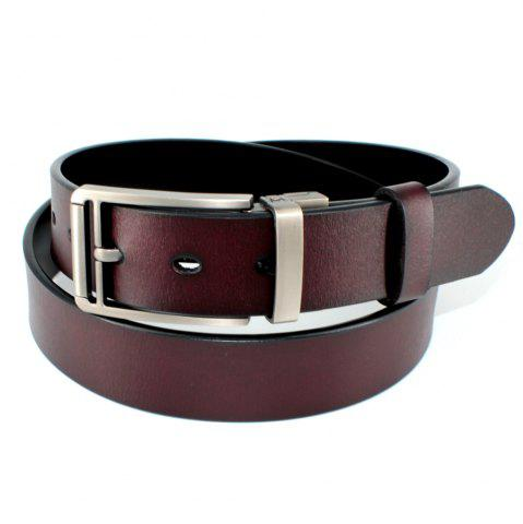 Shops Men's Belt Leather Double-sided Rotating Buckle Black/Brown