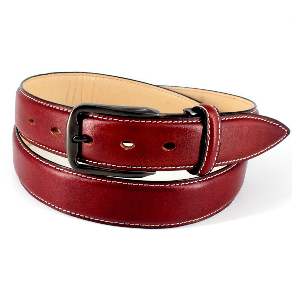 Discount Mens Leather Belt Double Sided Full Grain Vegetable Tanned Belts