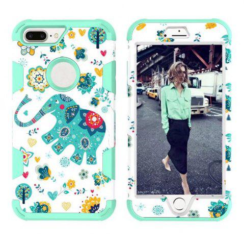 Shops Color Silicone PC Turnkey Case for iPhone 7/8 Plus