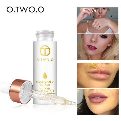 O.TWO.O 24k Rose Gold Elixir Skin Make Up Essential Oil Moisturizing Face Oil For All Skin Types