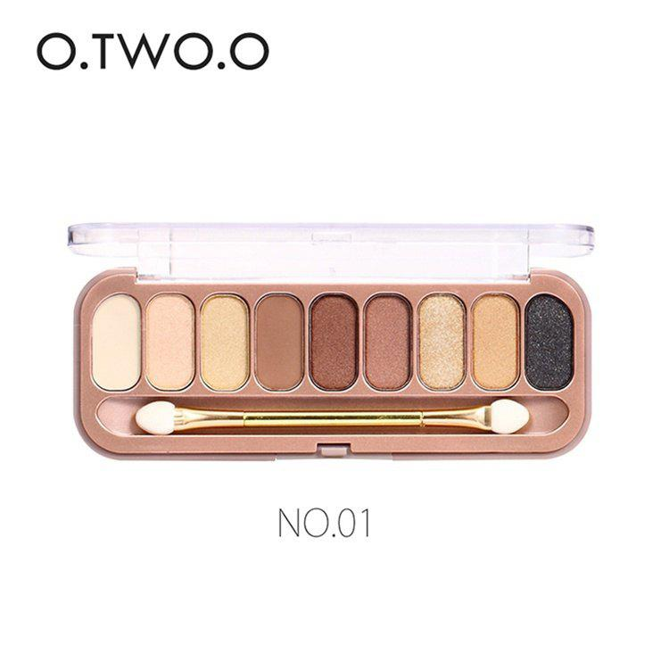 Shops O.TWO.O 9 Colors Palette Eyeshadow With Brush Make Up Eye Shadow for Women Girl Gift