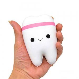 slow rising kawaii soft squeeze teeth for jokes Squishy Toy -