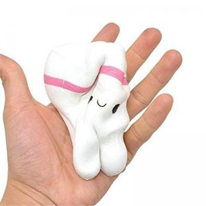 Cute Cartoon Tooth Pendant Squishy Toy Slow Rebound Stress Reliever -