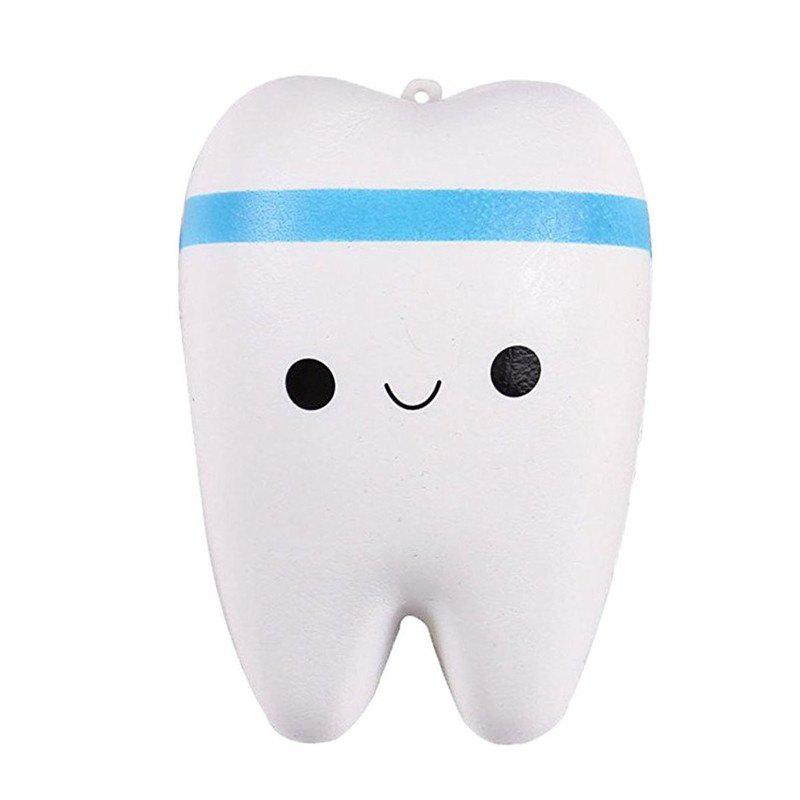 Online Cute Cartoon Tooth Pendant Squishy Toy Slow Rebound Stress Reliever