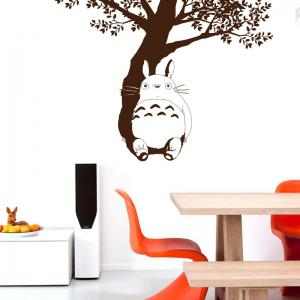 ... Under The Tree Totoro Vinyl Wall Sticker Cartoon Animals Film Removable  Decals For Kids Room