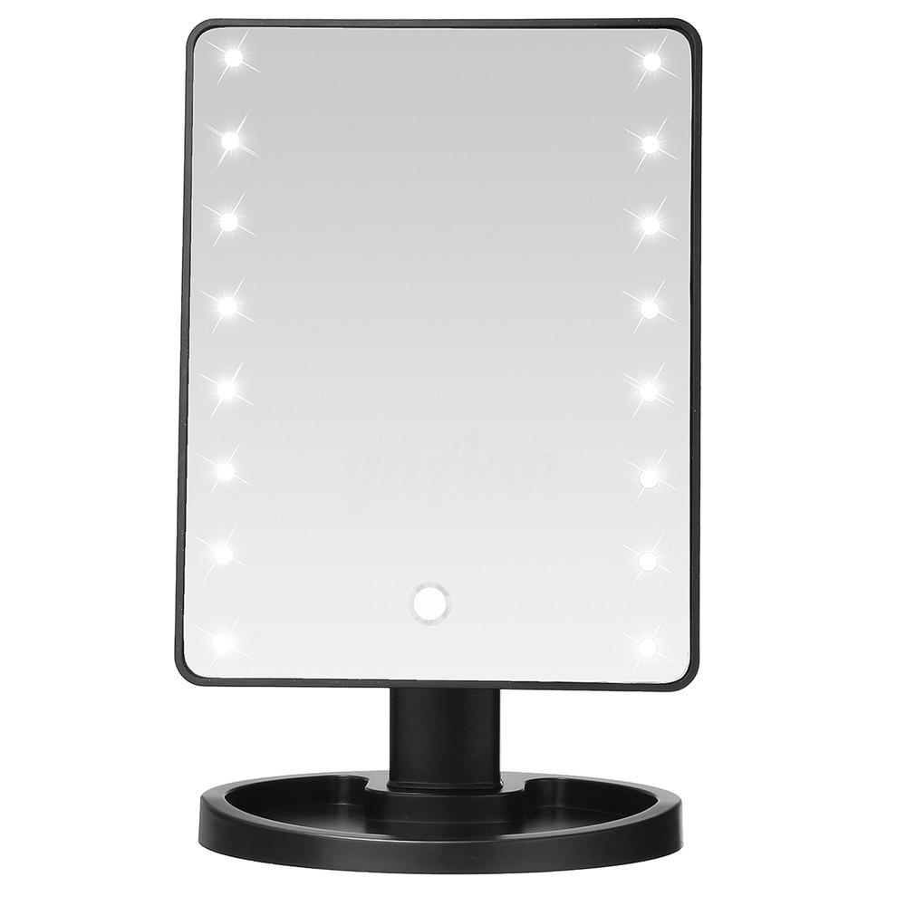 Hot TODO Fashion 16 LED Touch Screen Makeup Tabletop Vanity Light Up Mirror
