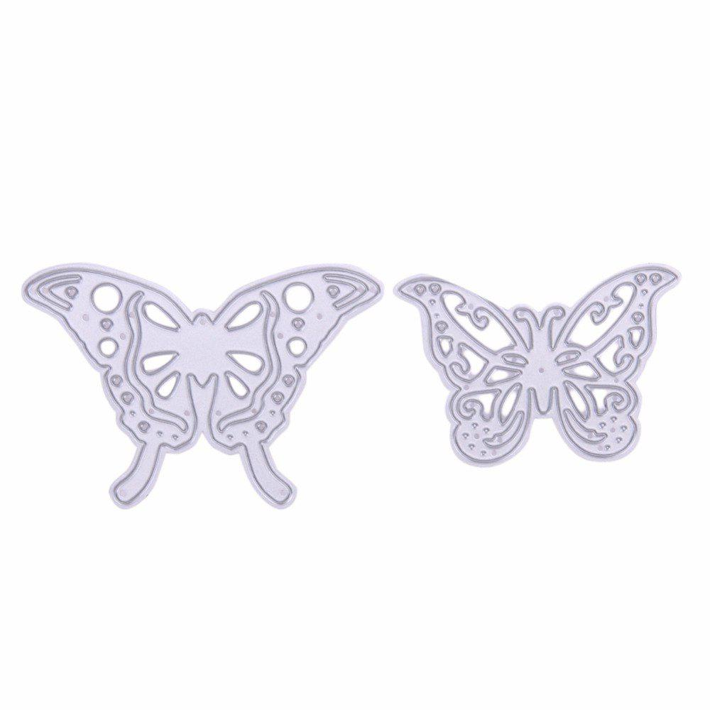 2Pcs Metal Butterfly Cutting Dies Stencils for