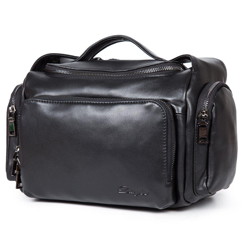 Unique New First Layer of Leather Cross-Section Portable Shoulder Diagonal Package Men'S Fashion Bucket Bag
