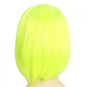 Women's Fashion Solid Straight Fashionable Short Halloween COS Party Dance Hair Wig -