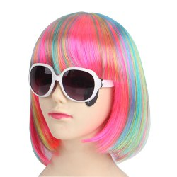 Women's Fashion Straight Short Halloween COS Party Dance Hair Wig -
