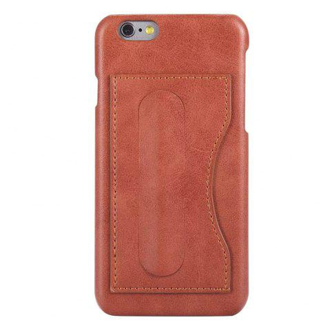 Online Card Holder with Stand Back Cover Solid Color Hard PU Leather Case for iPhone 8 / 7