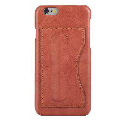 Card Holder with Stand Back Cover Solid Color Hard PU Leather Case for iPhone 8 / 7 -