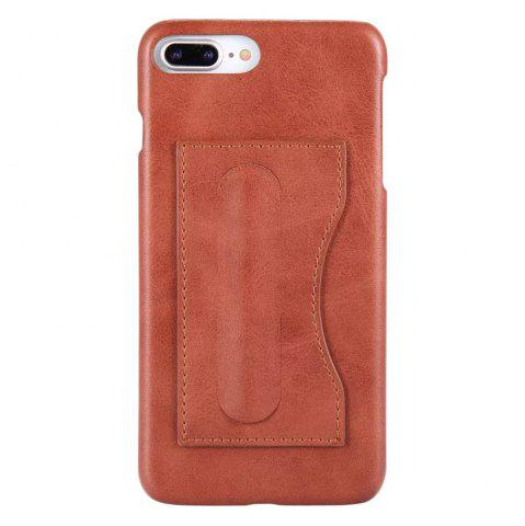 Latest Card Holder with Stand Back Cover Solid Color Hard PU Leather Case for iPhone 8 Plus / 7 Plus