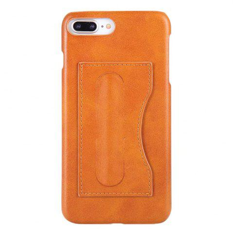 Affordable Card Holder with Stand Back Cover Solid Color Hard PU Leather Case for iPhone 8 Plus / 7 Plus