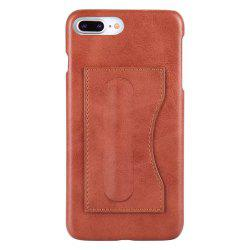 Card Holder with Stand Back Cover Solid Color Hard PU Leather Case for iPhone 8 Plus / 7 Plus -