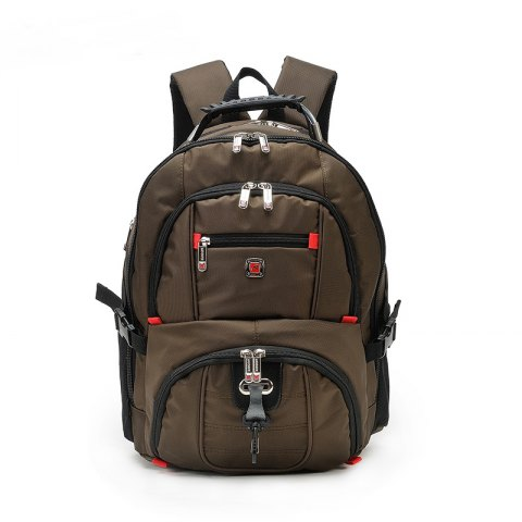 2018 Augur Travel Laptop Backpack Computer Teenagers College Big Capacity  Oxford Bag In Coffee  f1c4c1425fc03