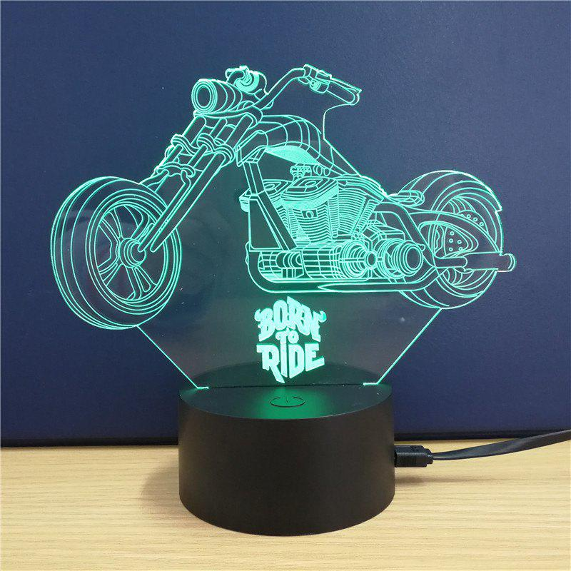 Online Harley Davidson Motorcycle  Gift Advertising Promotion LED Touches The Color-Changing 3D Lamp USB Creative Nightlight