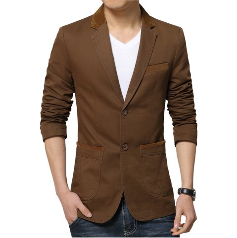 Shop Winter Fall Spring Men Turn-Down Collar Overcoat Casual Fashion Slim Outwear Trench Coat