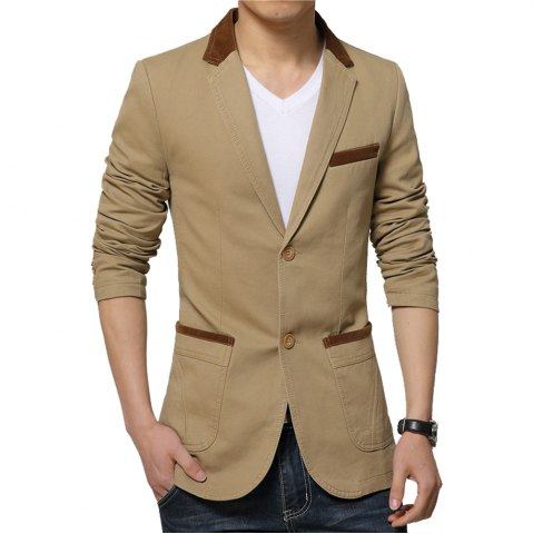 Online Winter Fall Spring Men Turn-Down Collar Overcoat Casual Fashion Slim Outwear Trench Coat